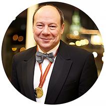 Леонид Владимирович Гелибтерман, модератор гастрономического ужина, Президент Международного Эногастрономическго Центра