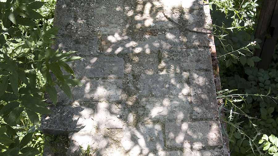 Кирпичная кладка дома, усадьба Орловых