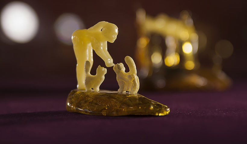 Калининградский янтарь. Образец Калининградского музея янтаря
