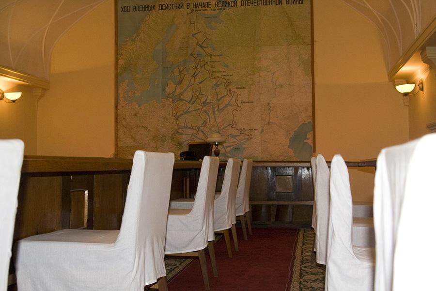 Зал заседаний в бункере Сталина в Самаре