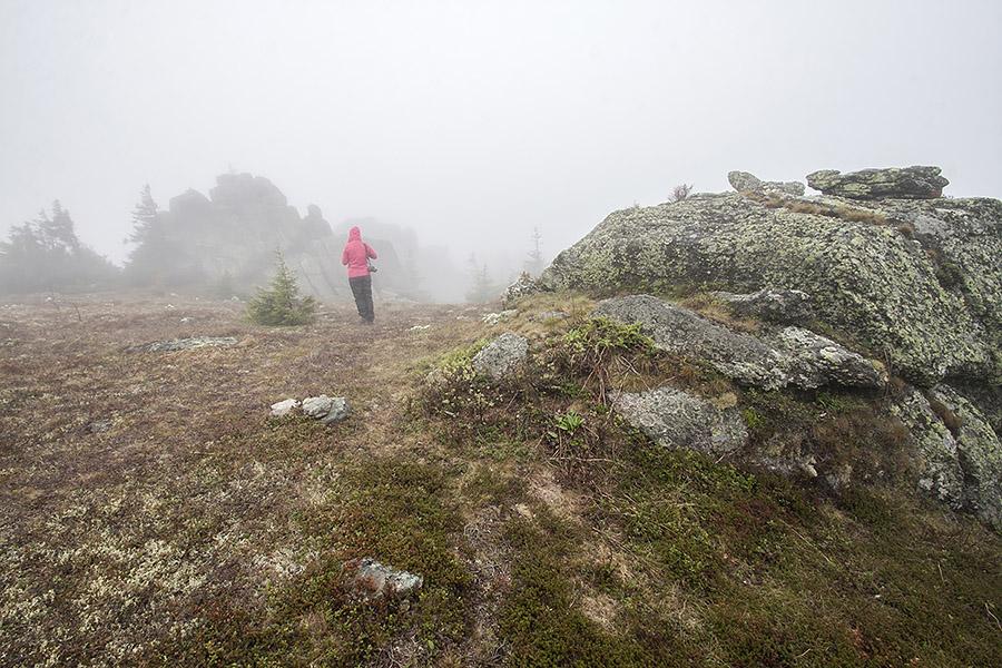 Таганай гора в тумане. Маршруты по национальному парку Таганай