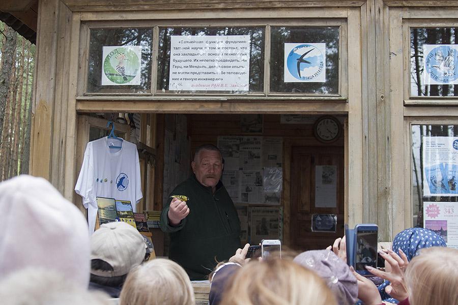Михаил Юрьевич Марковец проводит экскурсию на станции Фрингилла