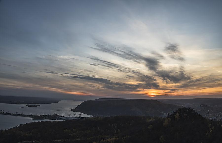 Вид с горы Отважная, Самарская Лука
