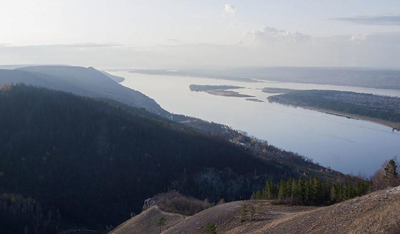Вид с горы Стрельная, Самарская Лука