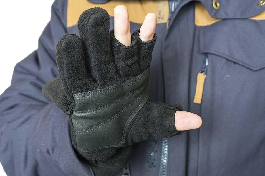 Ладонь зимних перчаток без пальцев