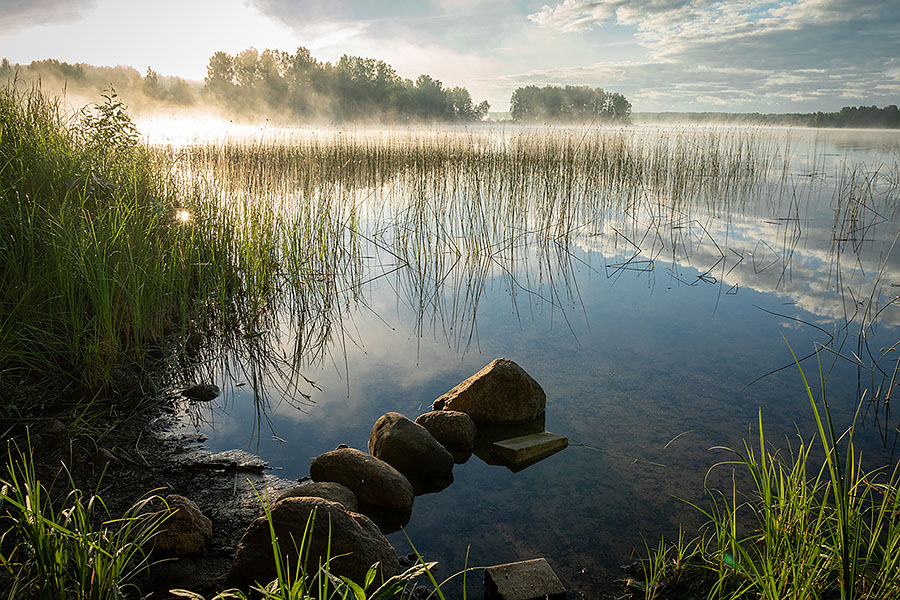 Озеро Русское, национальный парк Валдайский