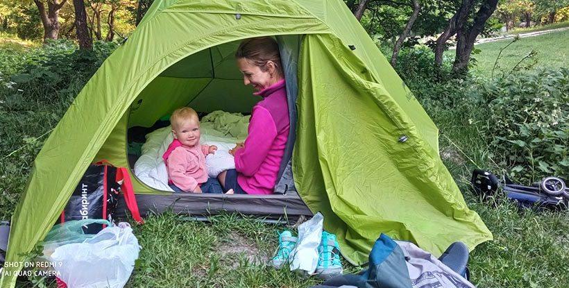 Отдых в палатке с детьми в Крыму